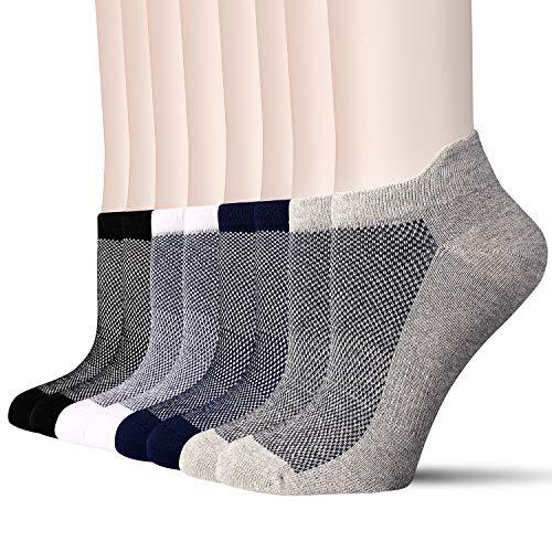 8 Pairs Trainer Socks for Men Women Running Socks Cotton Sports Socks Women and Men Non Slip Ankle Socks Athletic Socks Walking Sport Socks Mens 6-11