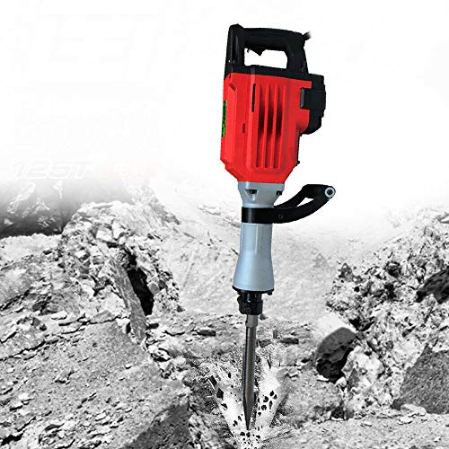 Martillo perforador manual de 3200 W, 220 V, doble carcasa aislante, Concrete Breaker 1850 BPM