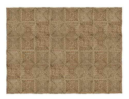 HERSIG - Alfombra Fibra Natural   Alfombra Cuadrada de Seagrass - 180 x240 cm