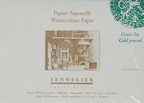 Sennelier Watercolor Paper Block 6X4.25 Cp