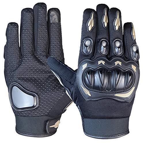 Guantes Moto Guante de Moto, Pantalla táctil, Guante de Moto cálido, Antideslizante, Transpirable, con Puntos Antideslizantes, para Motocross al Aire Libre MTB