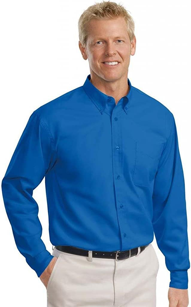 Port Authority Tall Long Sleeve Easy Care Shirt-LT (Royal/Classic Navy)