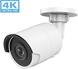 8MP UltraHD 4K Bullet PoE IP Camera Outdoor, DT085-I 2.8mm Lens, 3840×2160, 98ft Night Vision, 102° Wide Angle, H.265+, IP67,SD Card Slot,ONVIF IR Security Camera(Support Update)