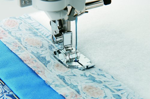 Brother ¼ Inch Piecing Foot for Quilting and Topstitching, SA125, Silver
