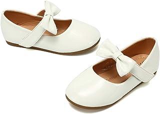 CIOR Kid Girls Ballet Flats Slip on Ballerina School Shoes Jane Mary Wedding Party