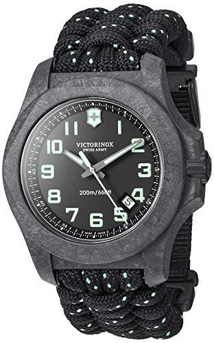 Victorinox Relógio Esportivo Masculino I.N.O.X Carbon Swiss Quartz com Pulseira de Náilon, Preto, 26 (Modelo: 241859)