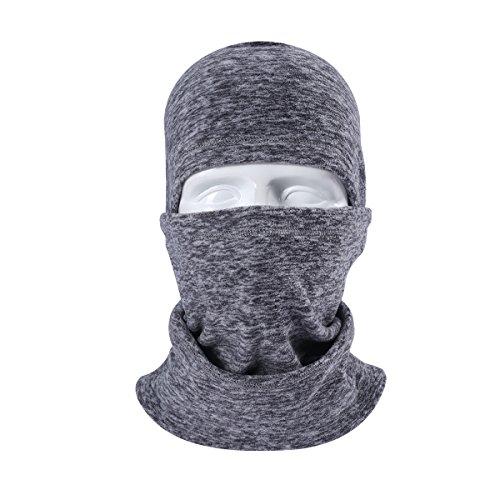Artpixel Balaclava Ski Face Mask for Women Kids Men, Winter Neck Warmer Windproof Fleece Hood for Snowboarding Heather Grey