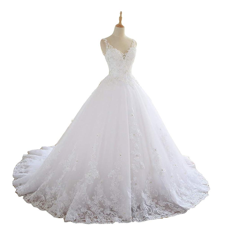 Seasail 2019 Lace Appliques V-Neck A Line Beck Sweep Train Lace Wedding Dress Bridal Dresses Robe De Mariage