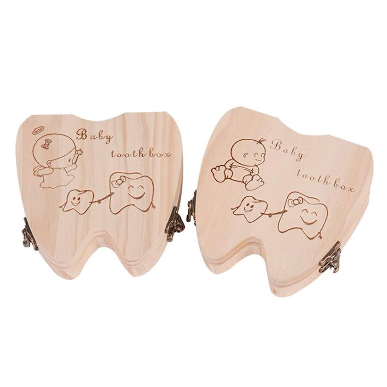 視聴者パラダイス修理可能Ourine ベビートゥースボックス 乳歯ケース 乳歯ボックス 乳歯保管ケース 乳歯入れ 木製 名前/抜けた日入れ かわいい 抜けた歯 赤ちゃん用 男の子 女の子 子供 出産祝い 入園祝い プレゼント (A)