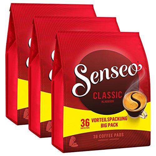 Senseo Kaffeepads Classic / Klassisch, Intensiver und Vollmundiger Geschmack, Kaffee für Kaffepadmaschinen, 108 Pads