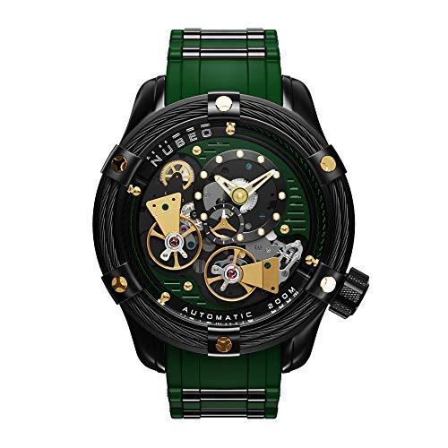 NUBEO Vanguard - Reloj automático para hombre, color verde