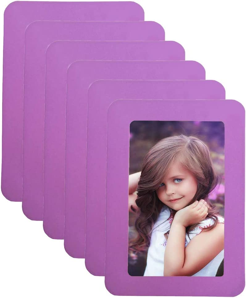 4x6 Magnetic Picture Frames Light Max 86% OFF Photo f Purple Rare