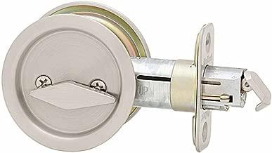 Kwikset 335 Round Bed/Bath Pocket Door Lock in Satin Nickel