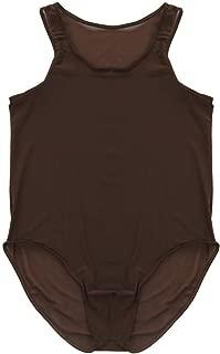 TiaoBug Men Soft Mesh Leotard Bodywear Brief Vest Underwear Wrestling Singlet Nightwear