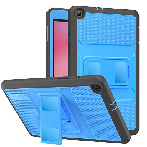 MoKo Case Fit Samsung Galaxy Tab A 8.0 T290/T295 2019 Without S Pen Model, Heavy Duty Shockproof Full Body Rugged Protective Cover Built-in Screen Protector for Galaxy Tab A 8 2019 - Blue & Dark Gray