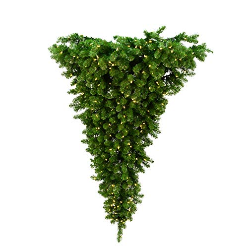 Vickerman 22032 - 6' x 61' American Upside Down Hanging Tree...