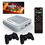 KinHank Super Console X Pro Console de jeu vidéo rétro , Lecteur de jeu TV classique pour enfants Max à 128G avec 33000 jeux Sortie 4K HD , Console de jeu portable Plug and Play