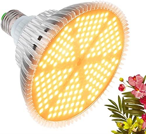 XQMY Bombilla de Cultivo LED de 120 W, Bombilla de Planta de Espectro Completo Similar al Sol Lámpara de Cultivo de 180 LED para Plantas de Interior Verduras y plántulas, E26 / E27 Base Grow Li