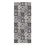 DON LETRA Alfombra Vinílica para Cocina, Salón, Dormitorio y Pasillo, 120 x 50 x 0.2 cm, Color Marrón, ALV-006