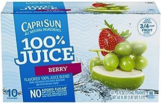 Capri Sun 100% Juice Blend, Berry, 10 Pouches (Pack of 4)