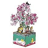 Rolife Maqueta Madera 3D para Montar Caja de música- Cherry Blossom Tree- DIY, Manualidades....