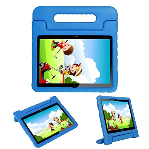 i-original Compatible with Huawei MediaPad T3 10-In Case,Shock Proof Honor Play Pad 2 9.6-In EVA Case for Kids Bumper Cover Handle Stand,Convertible Handle Lightweight Protective Cover(Blue)