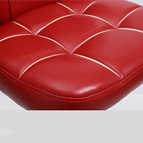 XUEPINGbtd Barbank, ausziehbar, drehbar, Kunstleder, Rot, hohe und kurze Größen, für den Schreibtisch, Kassierbar, für vier Jahreszeiten Hocker