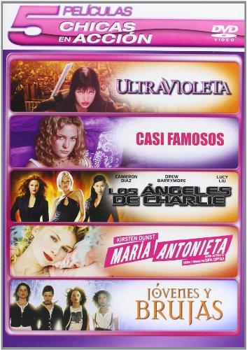 Pack Chicas En Accion:Casi Famosos + Los Angeles De Charlie+ Jovenes Y Brujas + Marie Antoinette + Ultravioleta [DVD]