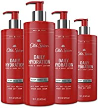 Old Spice Daily Hydration Hand & Body Lotion for Men, With Hemp Seed Oil, 16.0 Fl Ounce, Pack of 4