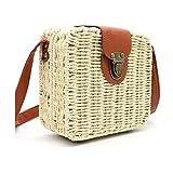 Strohtasche Korbtasche Damen Schultertasche Handtasche Stroh Clutch
