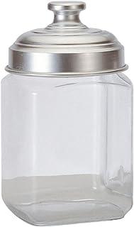 Ottinetti Square Glass Storage Jar with Hermetic Lid, 1 L