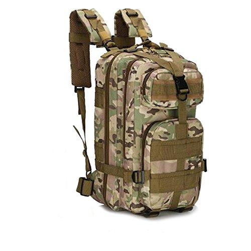 SHANNA Trekkingrucksack, Wanderrucksäcke Militärrucksack 25L Armee Rucksack MOLLE Assault Pack Taktischer Kampfrucksack für Outdoor Wandern Camping Trekking Angeln Jagd (CP Camouflage)