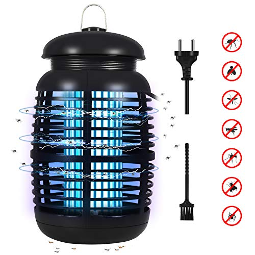 Wesimplelife Lampada Antizanzare Elettrica, 15W 4000V Mosquito Lamp Repellente per Zanzare con Luce UV e Cassetto Raccogli Trappola per Insetti per Interni di Grandi Dimensioni per Casa Giardino