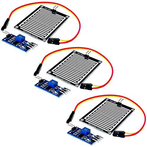 AZDelivery 3 pcs Modulo Sensor de lluvia compatible con Arduino...