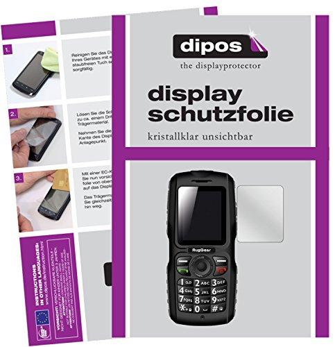 dipos I 2X Schutzfolie klar kompatibel mit RugGear RG100 Folie Bildschirmschutzfolie