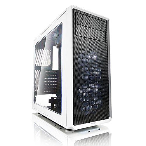 Fractal Design Focus G - Mid Tower Custodia computer - ATX - Ottimizzato per flusso d'aria elevato e elaborazione silenziosa - 2x ventola inclusa - USB 3.0 - pannello laterale a finestra - Bianca