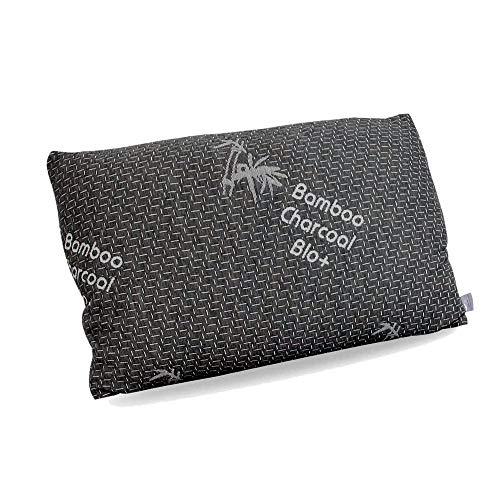 Enjoy Fit Kopfkissen | Orthopädisches Nackenstützkissen | Memory Foam Kopfkissen für Seiten- und Rückenschläfer| Visco Schlafkissen, Nackenkissen | 80x40x15 cm (1 - Pack) (Bambuskohle Bezug)