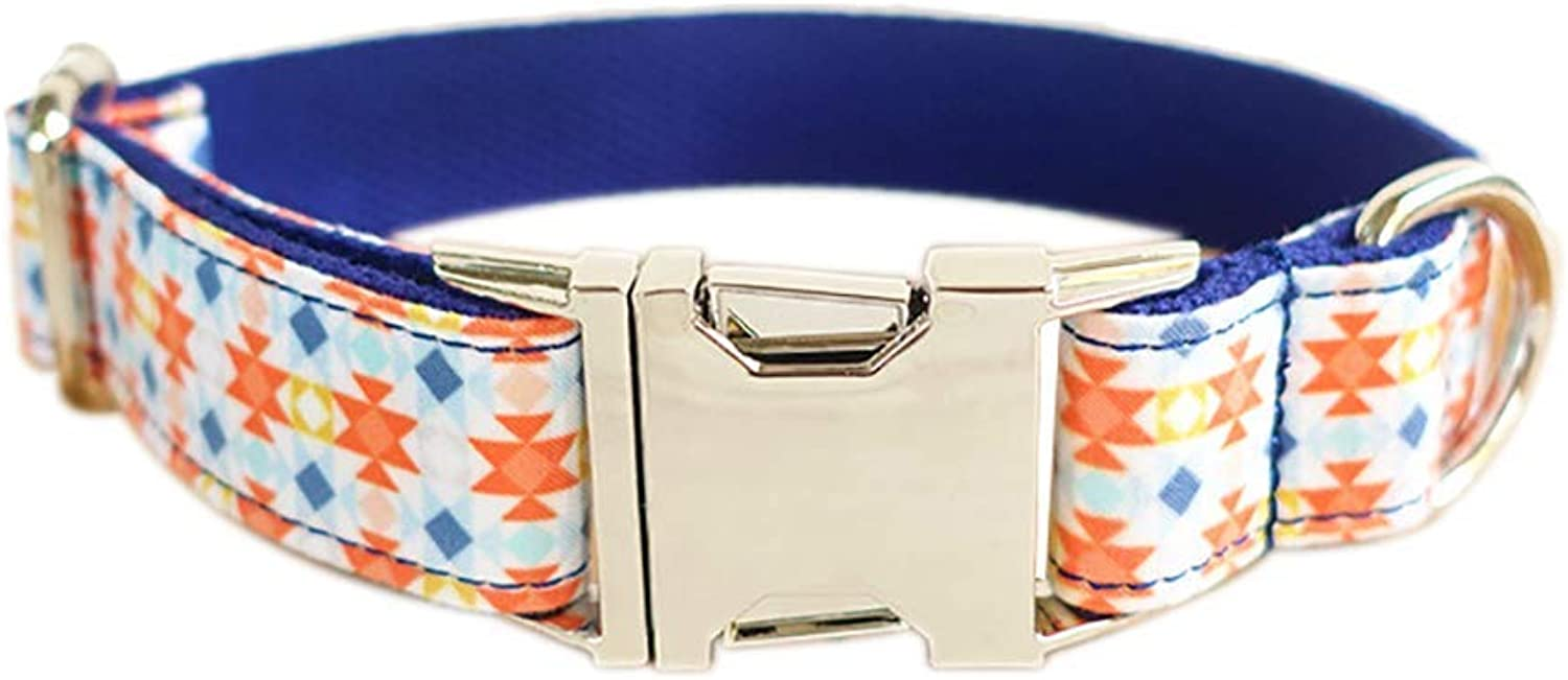 PET COLLAR HOME Pet Dog Collar Soft Breathable Mesh Dogs Collar Adjustable Alloy Buckle Pet Collar Safety Collar For Small Dog Puppy Kitten Cat Dark bluee (Size   L)