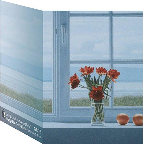 Mini-Kärtchen / Geschenkanhänger mit farbigem Umschlag A8 und Umschlag • 22833-9 ''MN Fenster und Fluss'' von Inkognito • Künstler: Quint Buchholz • Spezialkarten • Mini-Kärtchen • Mini-Kärtchen