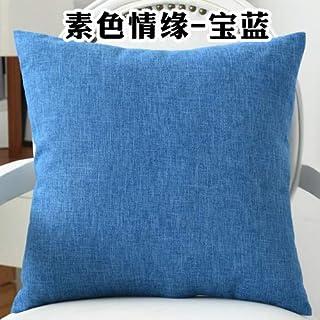 YYBF Sólido sofá Cintura cojín Almohada Decorada Tirante Almohada para el hogar 40 cm y 60 cm 06