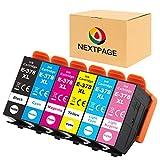 NEXTPAGE 378XL - Cartuchos de tinta de repuesto para Epson 378XL 378 para Epson Expression Photo XP-8500 XP-8505 XP-15000 XP8505 XP8500 (negro, cian, magenta y amarillo)