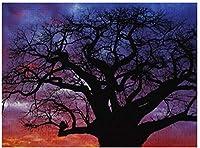 新しいJSCTWCLアフリカのバオバブの木アダンソニアパズル500ピース木製大人のジグソーパズル色子供のための抽象的な絵画パズル教育玩具ギフト
