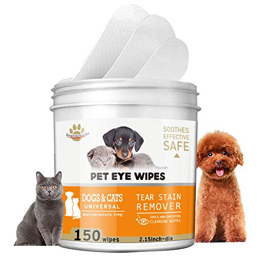 oceansEdge11 150 Pads Pet Eye Wipes,Eye Tear Stain Remover Wipes for Cats & Dogs,Eye Crust Treatment for White Fur,Unscented Gentle Pet Tear Wipe