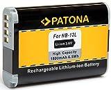 PATONA - Ersatz für Canon NB-12L (echte 1800mAh / Li-Ion Hochleistungsakku) neueste Generation 100 Prozent kompatibel