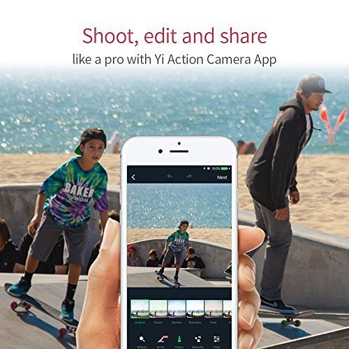YI 4K+ Action Camera, Sports Cam with 4k/60fps Resolution, EIS,Voice Control, 12MP Raw Image