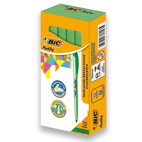 BIC Brite Liner Highlighter, Chisel Tip, Green, 12-Count (BL11-GREEN)