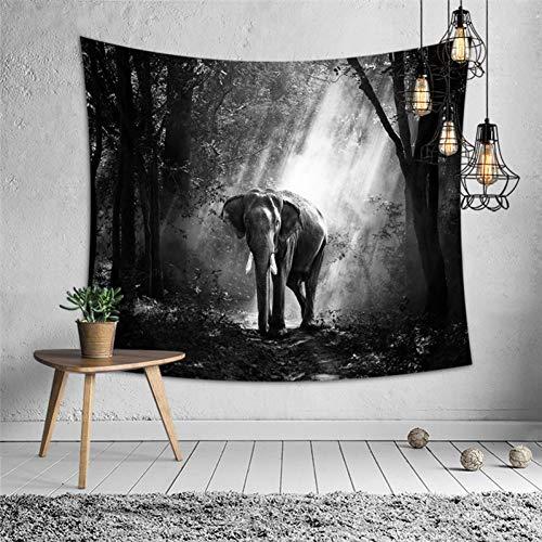 GUDOJK Strand-tuniek afdekking polyester Astract olifant-tapijt voor woningdecoratie wandbehang in de slaapkamer 130 cm x 150 cm