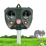 vonivi Ultraschall Katzenschreck Tiervertreiber Cat Dog Repellent Solar Wiederaufladbare Batterie...