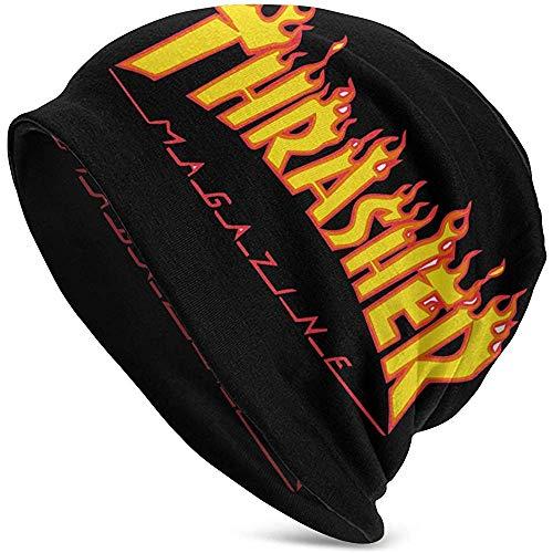 Unisex Adult Thras-Her Goldgelb Flame Logo Lässige Beanie Mütze Warm Knit Ski Beanies Skull Cap
