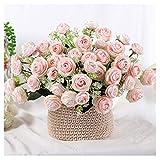 TVMALL - Fiori finti decorativi, con rose artificiali, bouquet da sposa, decorazione per i...